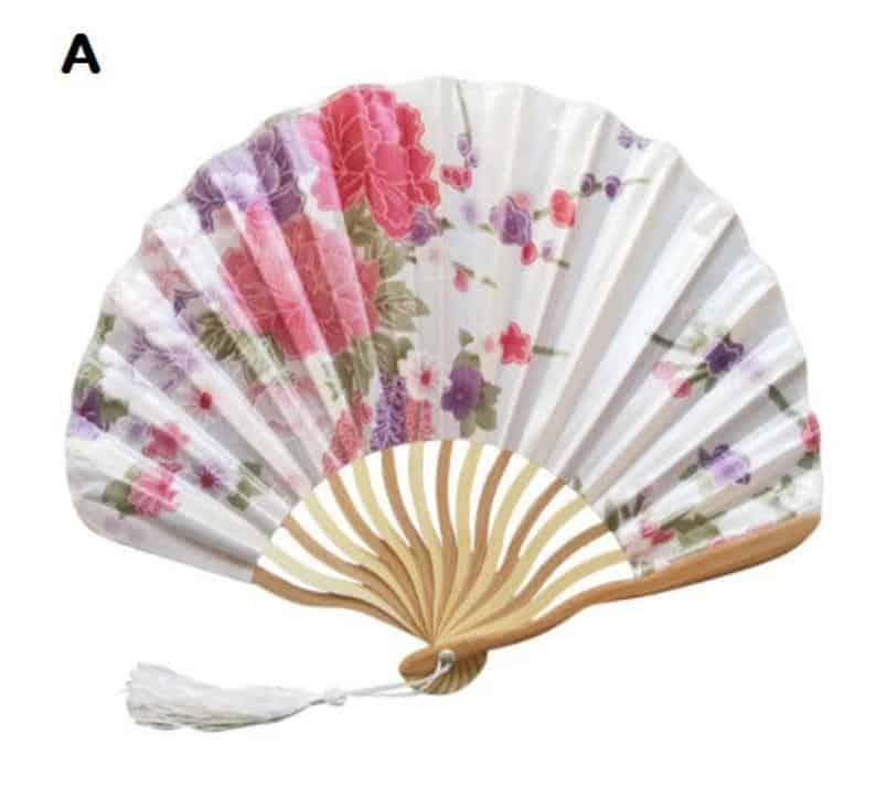Floral hand fan
