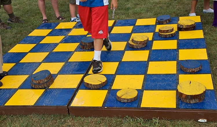 lawn games for wedding:Gaint-Checkers
