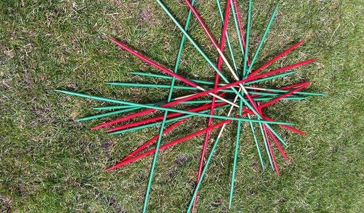 fun wedding ideas:Giant Pick Up Sticks