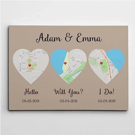 great cheap wedding gifts: hello will you i do canvas
