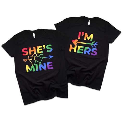 Lesbian Couple Matching Shirt