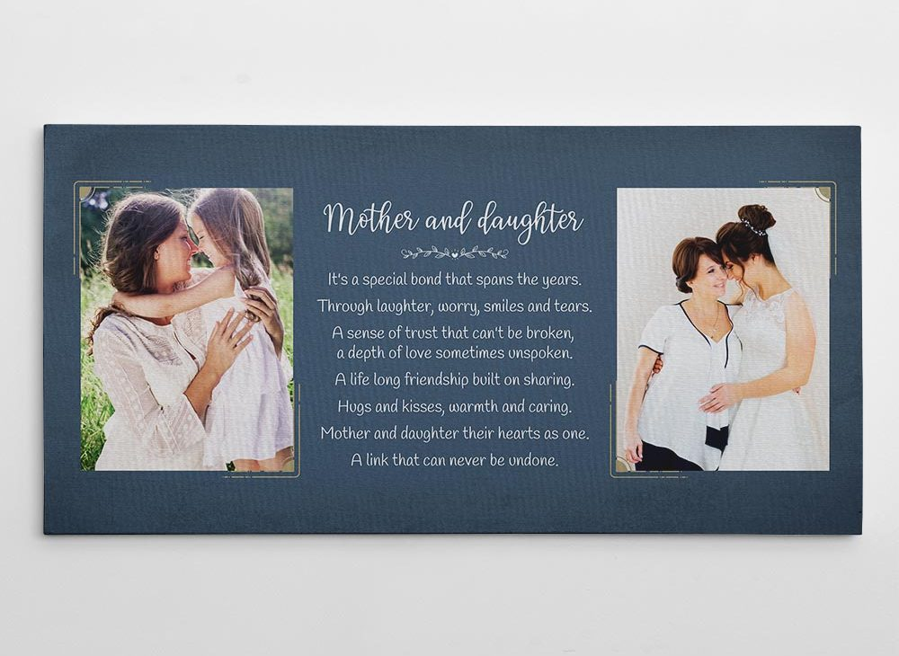 bride gifts from mom: Mother and daughter Poem Photo Canvas Print