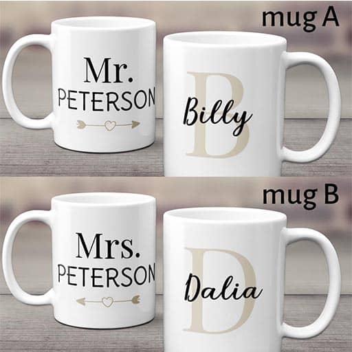 Coffee mugs: lesbian wedding gift