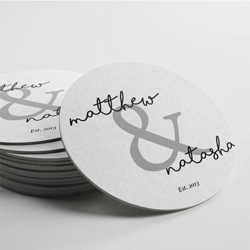 Name & Name Personalized Coasters