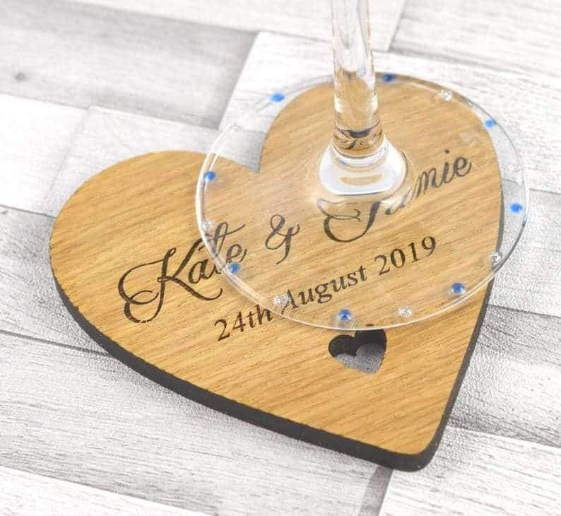 Personalised Heart Shaped Coasters