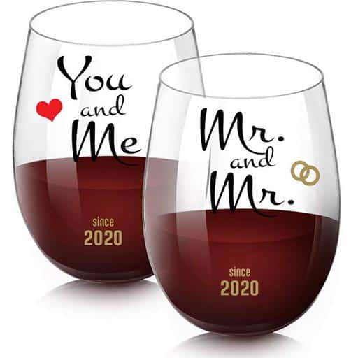 Mrs and Mrs Wooden Drink Coasters