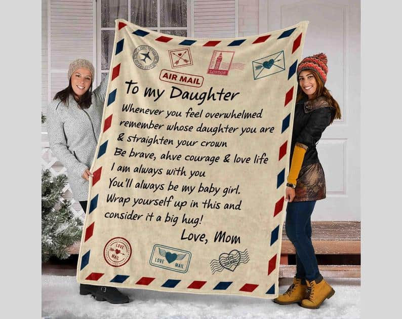 a mother's letter to her daughter on her wedding day: Personalized a letter blanket to your daughter on her wedding