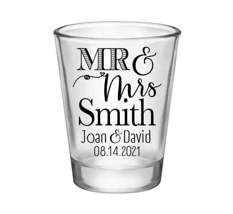 afforable wedding favors:Shot Glasses
