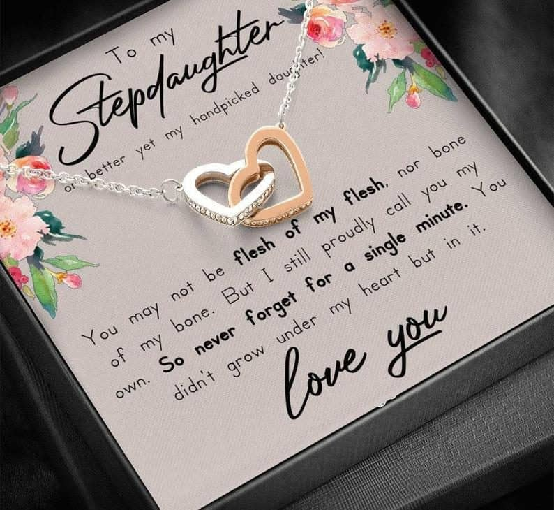 wedding gift for daughter:Stepdaughter Necklace