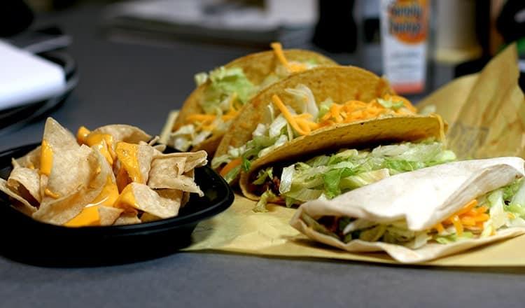 wedding reception food ideas on a budget:Taco Table
