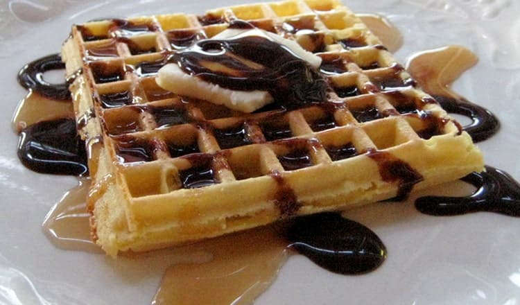 wedding reception foods:Waffle Table