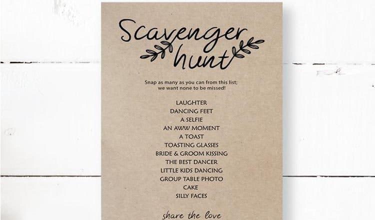 fun wedding reception games:Wedding-Scavenger-Hunt