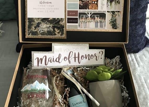 DIY Maid of Honor Gift Box