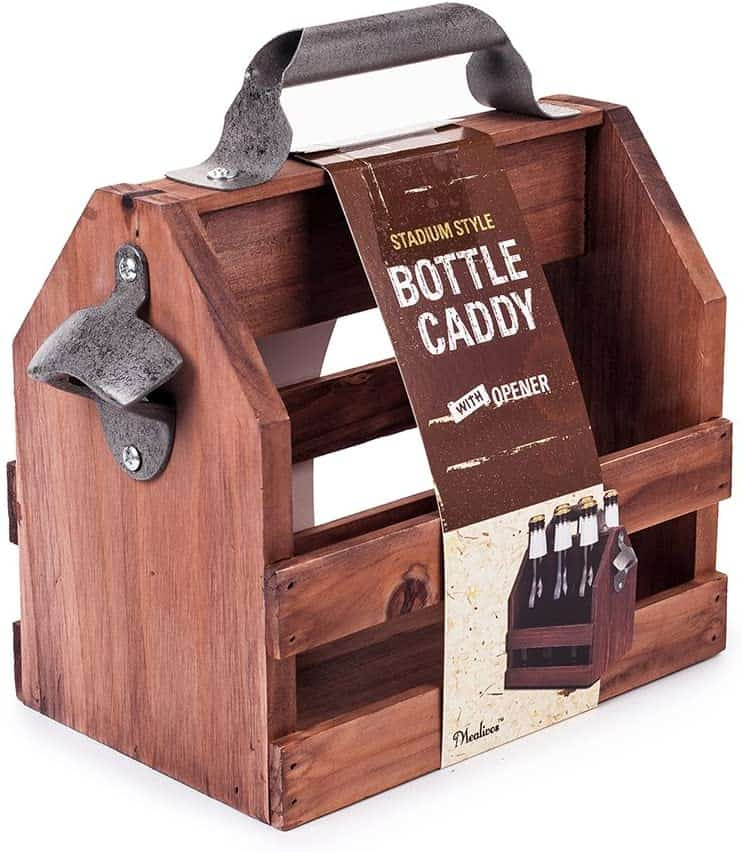 Wooden Bottle Caddy - bridal party gifts