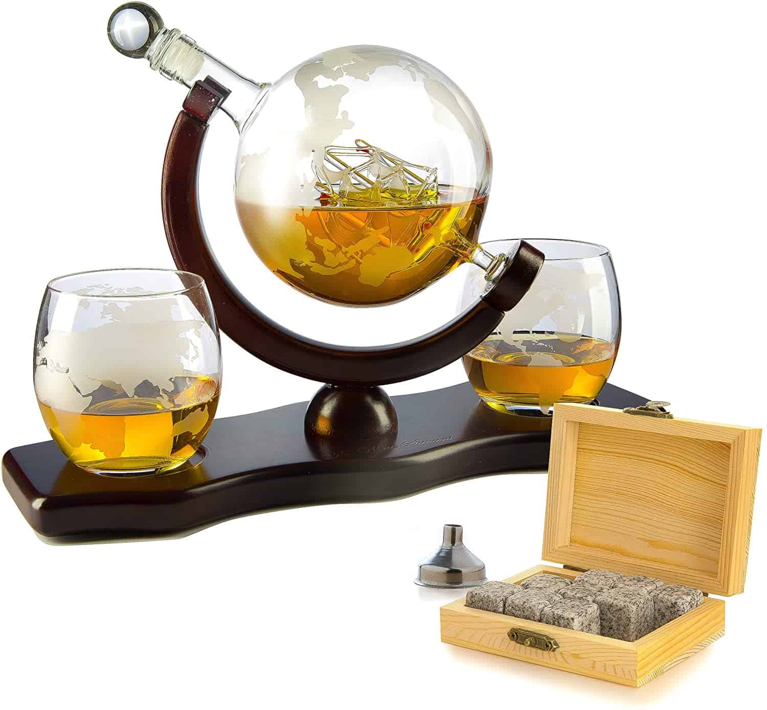 Whiskey Decanter Set Globe - wedding party gifts