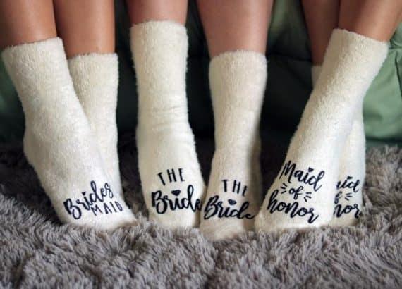 Bridal Party Socks - bridal party gifts