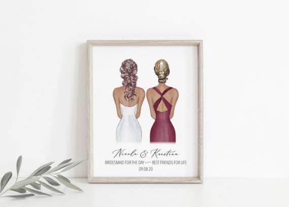 Custom Bridesmaid Print