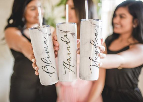 Personalized Tumblers - bridal wedding gifts
