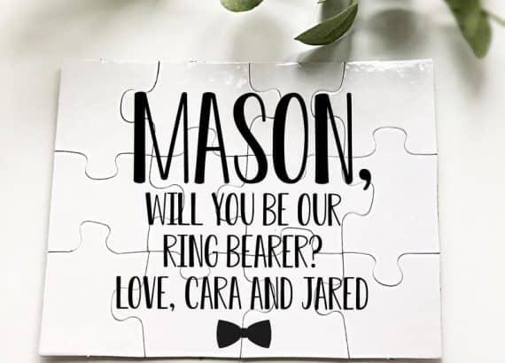 Ring Bearer Proposal-Ring Bearer Puzzle