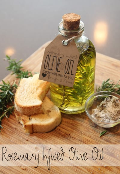 diy wedding favors - infused olive oil