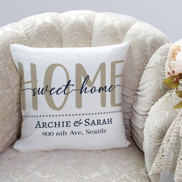 Home Sweet Home Personalized Address Pillow