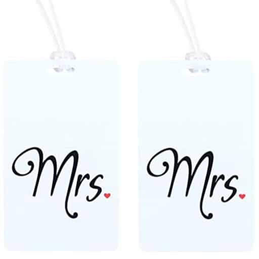 Mrs. & Mrs. Luggage Tag