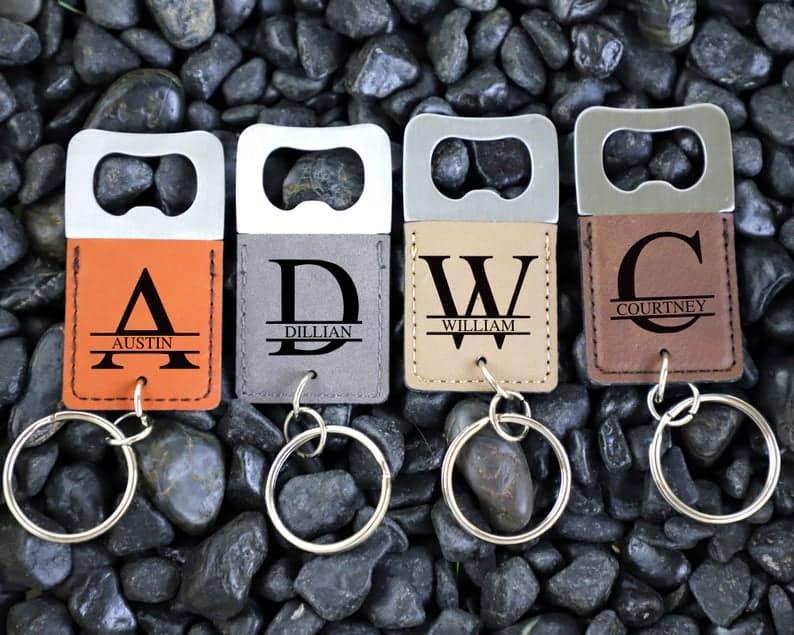 personalized wedding favors - custom keychain