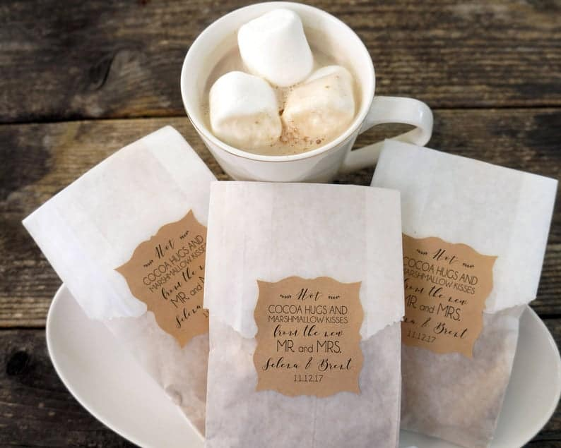 personalized wedding favors - Chocolate and Marshmallow Bags