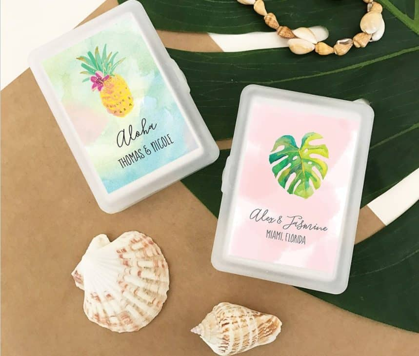 Tropical Beach Playing Cards - personalized wedding favors