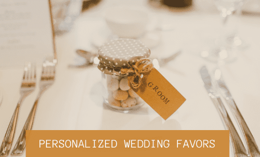 personalized wedding favors - thumbnail
