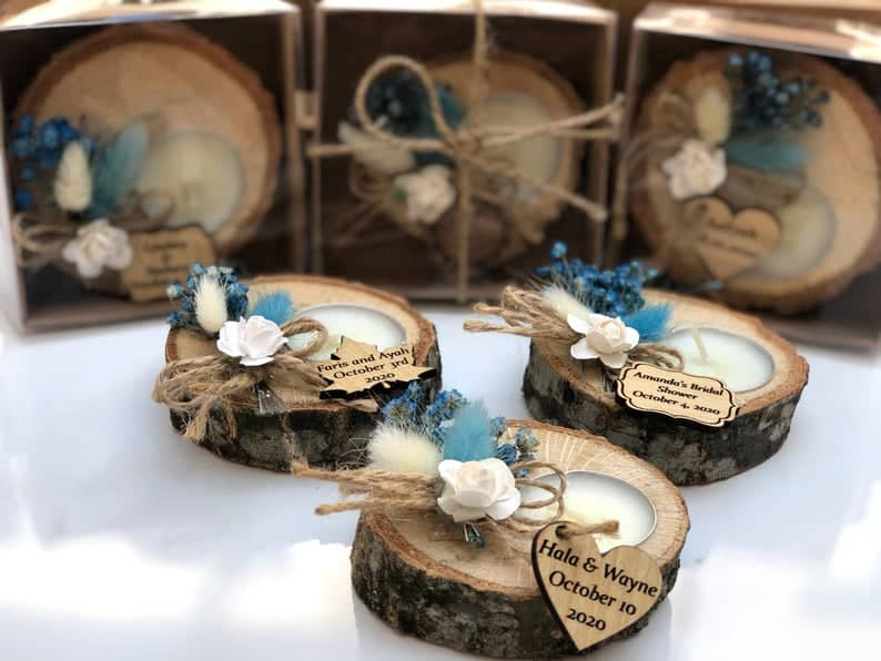 tealight holders - personalized party favors