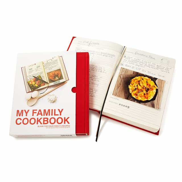 wedding gift ideas for second marriages - my family cookbook