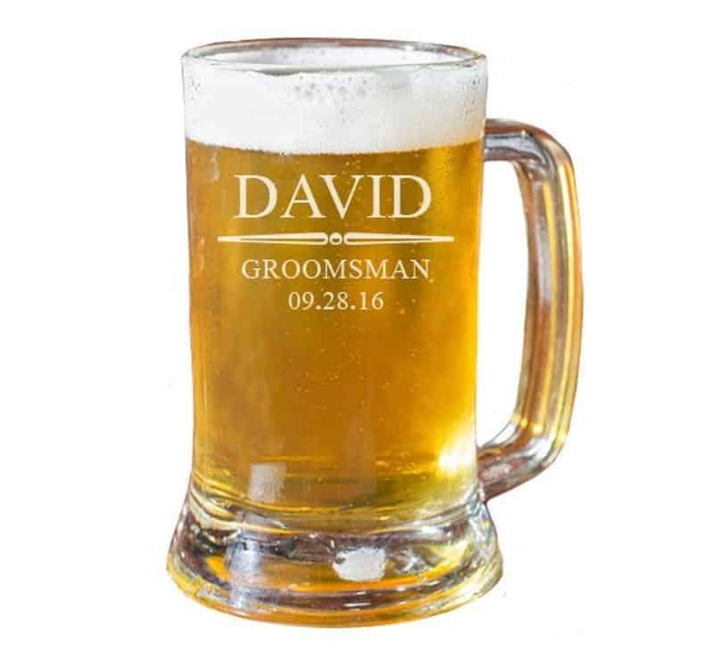 Beer glass:inexpensive wedding presents