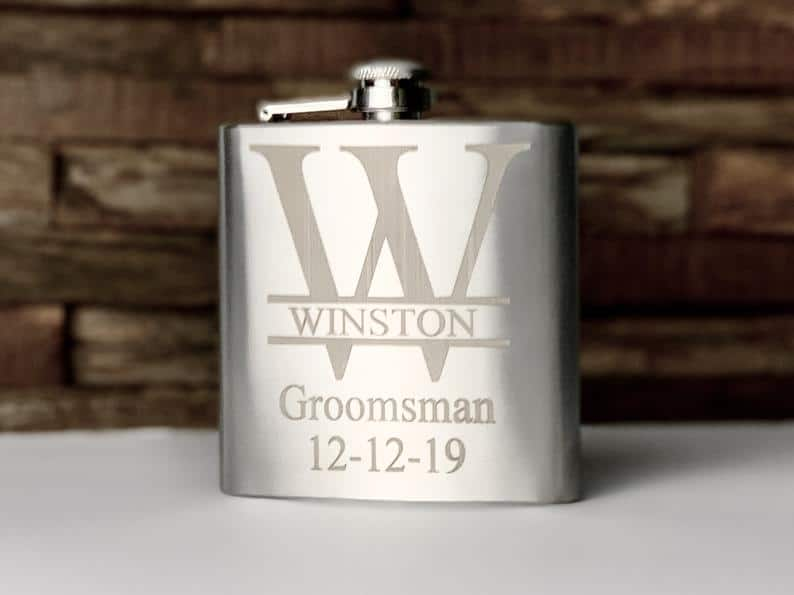 Engraved Flask Stainless Steel