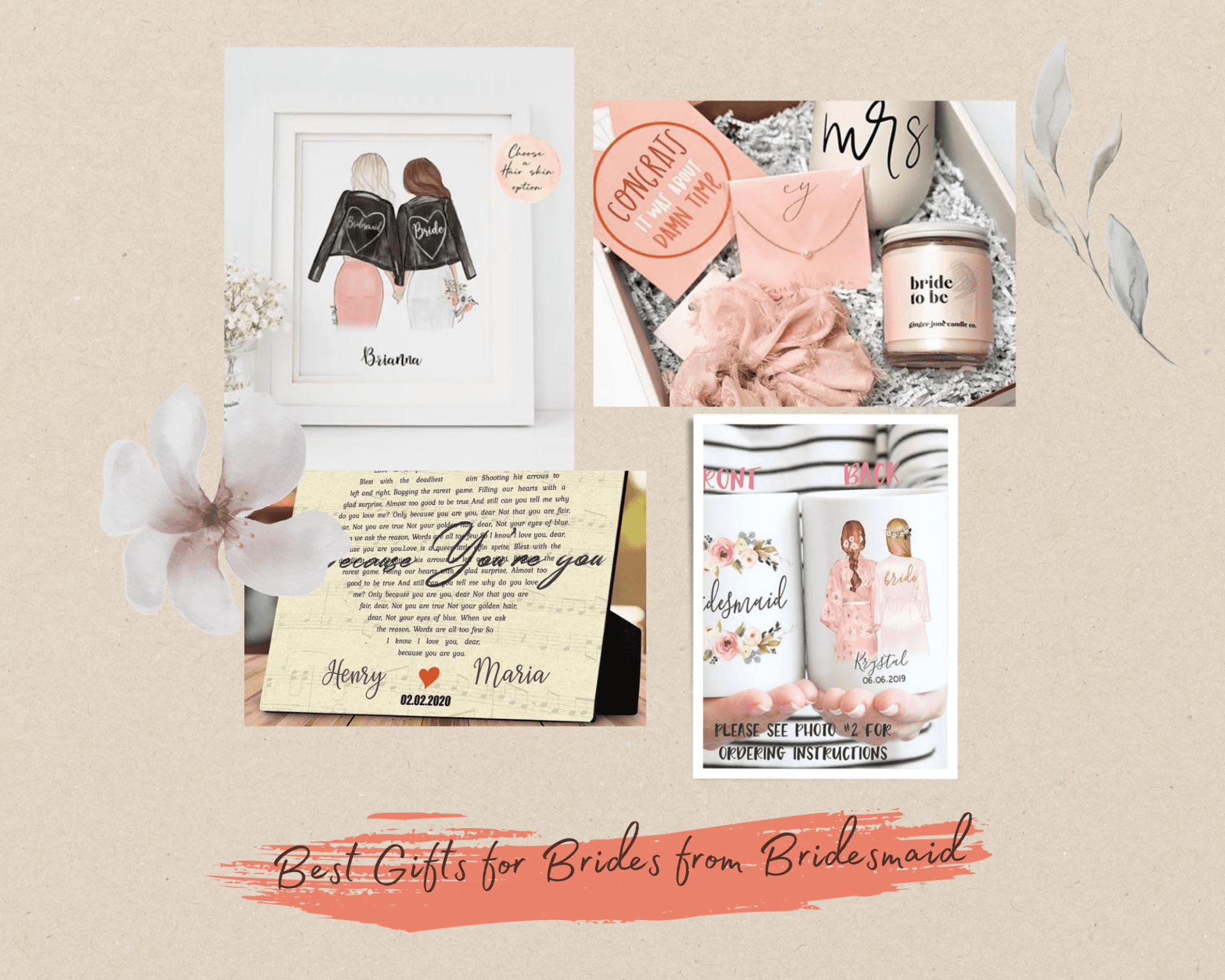20+ Best Gifts for Brides from Bridesmaid