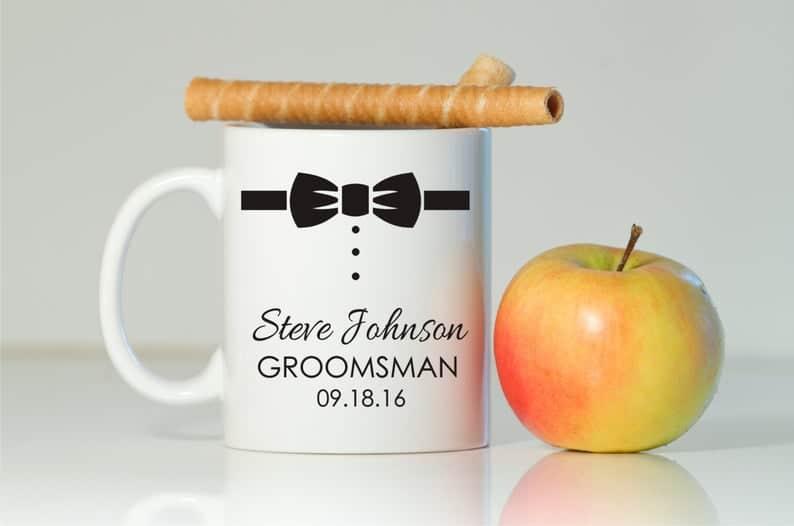 Groomsman coffee mug: cool inexpensive gifts for guys