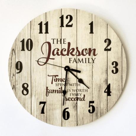 Personalized Rustic Clock