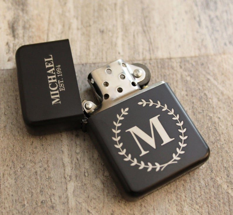 Personalized groomsman lighter:inexpensive groomsmen gift ideas