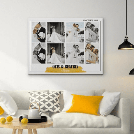 Wedding Photo Collage Canvas Print - personalized wedding gifts