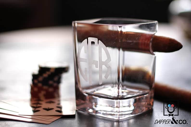 Whiskey Cigar Glass: affordable groomsmen gift