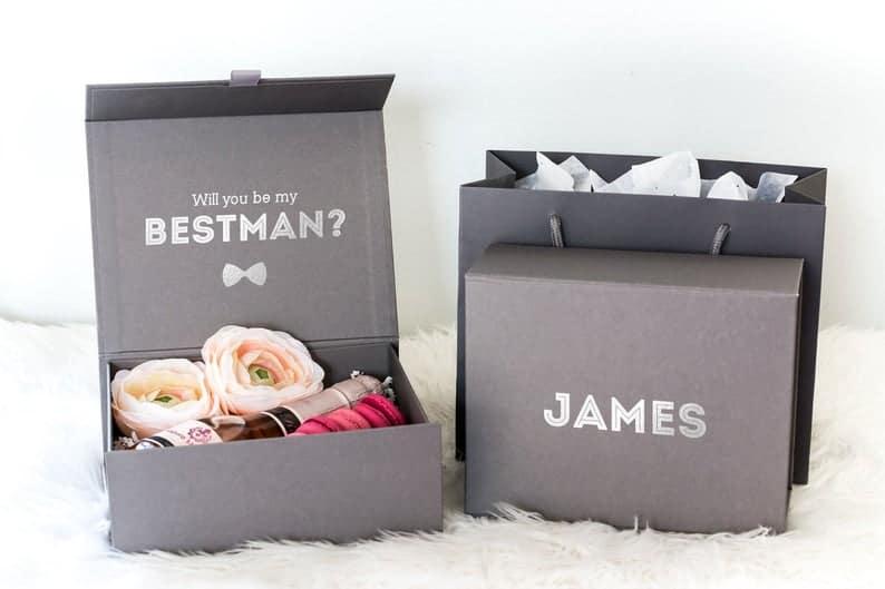 Best Man Proposal Gift Box