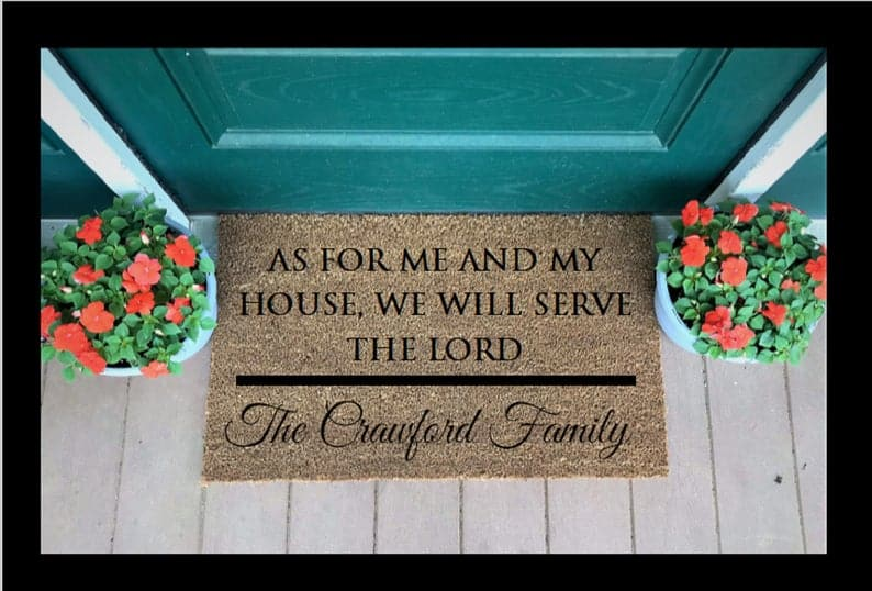 Custom DoorMat - christian gift