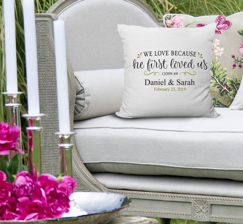 bible wedding gift - custom pillow
