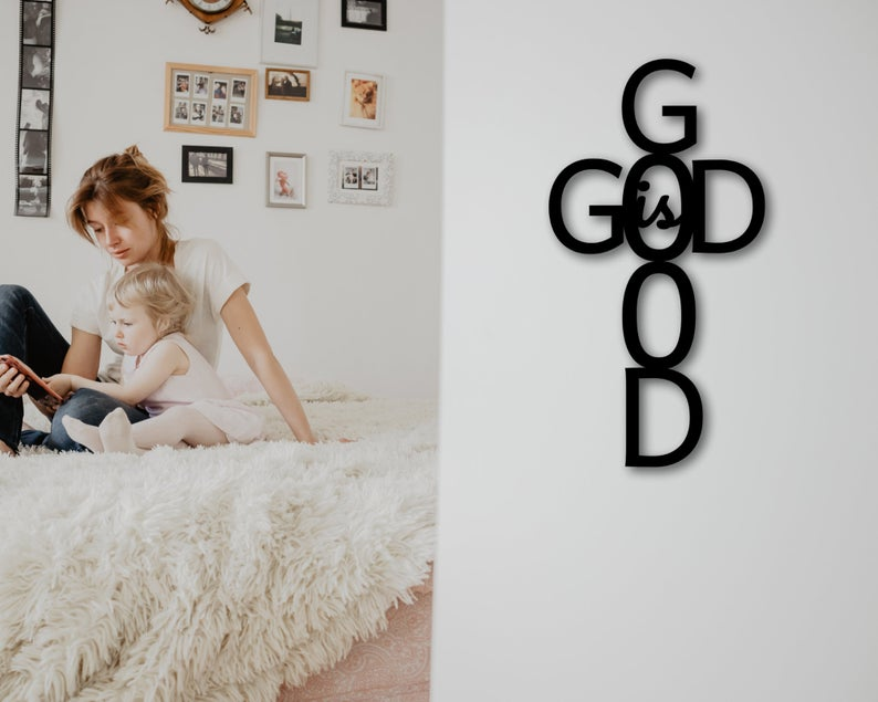 God is Good Metal Wall Art - christian wedding gifts