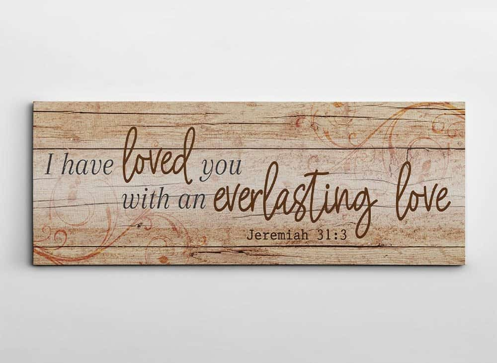 bible wedding gift - I Have Loved You With An Everlasting Love Canvas Print
