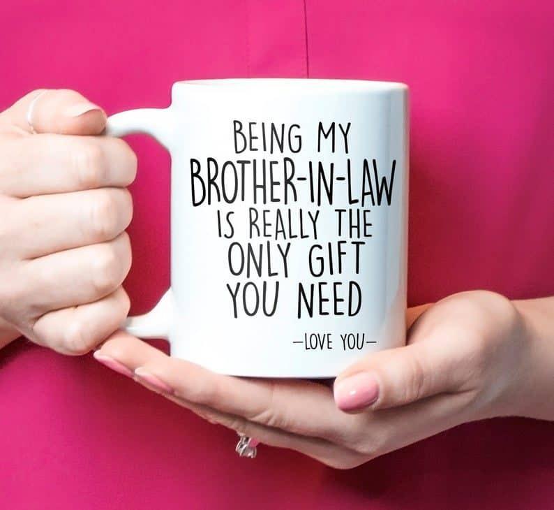 wedding gifts for brothers - custom mug