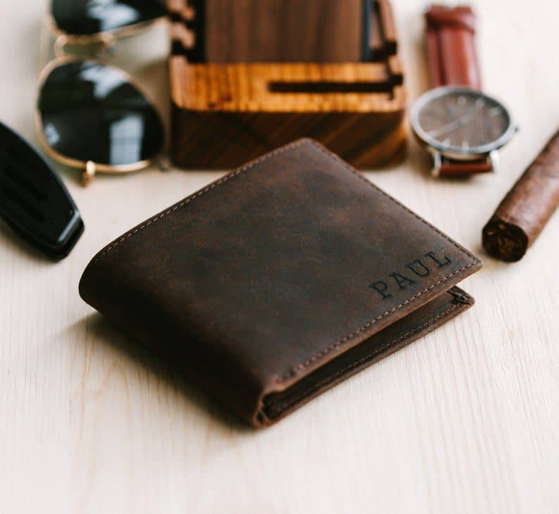 Personalized Wallet - wedding gifts for brothers