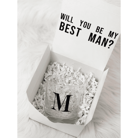 will you be my best man whiskey glass