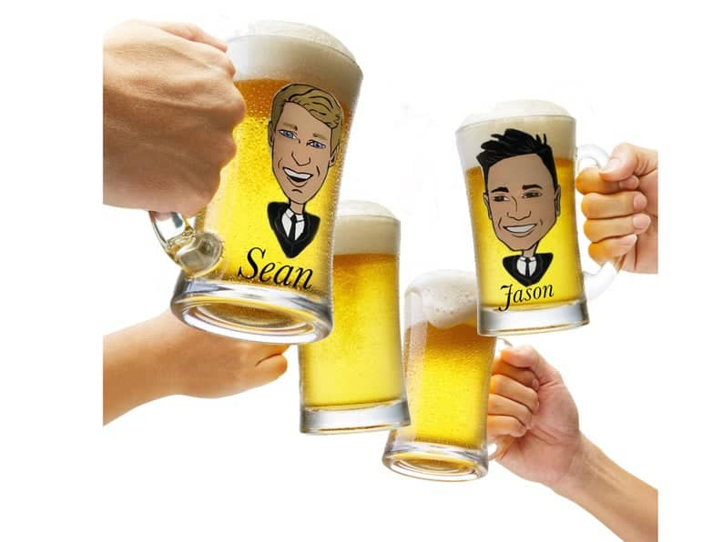 Beer Glass: funny groomsmen ideas