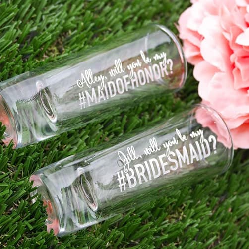 Bridesmaid Shot Glass: proposal gifts for her